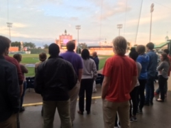 Students in the MS in PE Graduate Program  Gain Insight into  Sports Information Programs from Ron Borkowski Senior Count Excutive for Lexington Legends