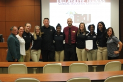 Dept. Exercise & Sport Science holds Inaugral MS in AT Clinical Induction Ceremony