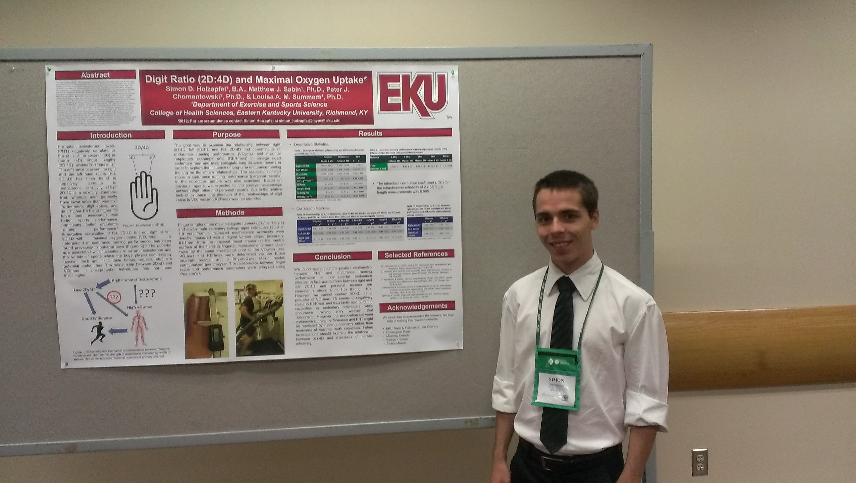 Holzapfel Presents At Acsm Conference Exercise Amp Sports